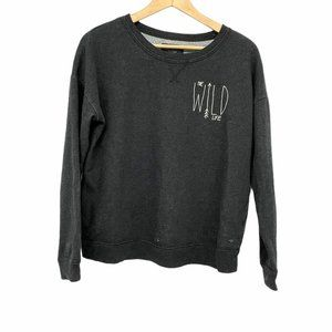 American Eagle Grey Pullover Wild Life sweater